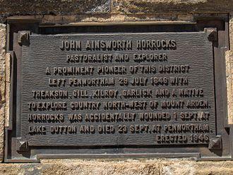 John Ainsworth Horrocks - John Horrocks monument at Penwortham, South Australia