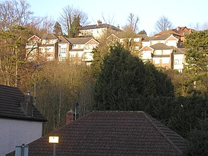 Whyteleafe - Image: Houses above the A22, Whyteleafe (geograph 2309246)