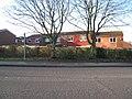 Houses backing on to Hatch Warren Lane - geograph.org.uk - 1713650.jpg