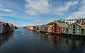 Houses on Nidelva Riverfront, Trondheim, West view 20150605 3.jpg
