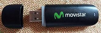 Mobile broadband modem - Huawei HSPA+ Evolution-Data Optimized USB wireless modem