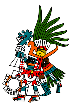 Huitzilopochtli - Huitzilopochtli, as depicted in the Codex Borbonicus.
