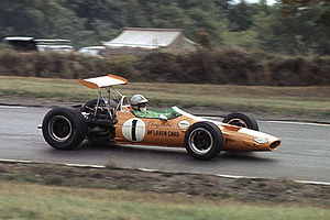 Denny Hulme - 1968 USGP at Watkins Glen. Photo by Bob Sanderson