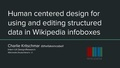 Human centered design for using and editing structured data in Wikipedia infoboxes.pdf