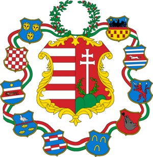 Coat of arms of Hungary - Image: Hungary large coa 1849