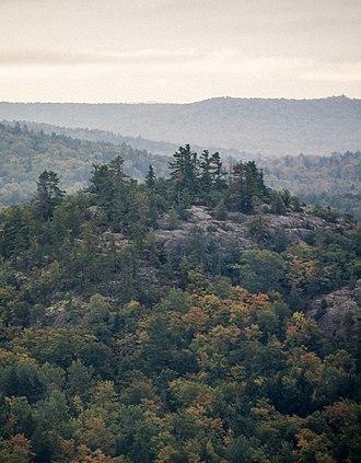 Huron Mountains - A rocky summit in the Huron Mountains