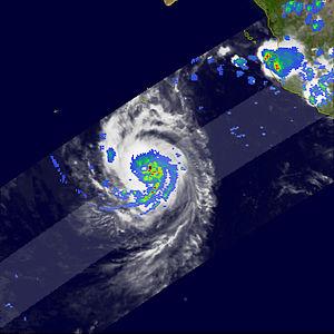 Hurricane Paul (2006) - TRMM satellite image of the rainfall from Hurricane Paul