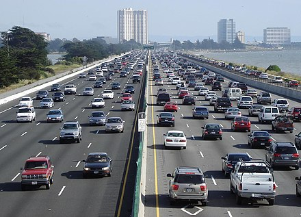 Gasoline is subject to regulation and taxation around the world. I-80 Eastshore Fwy.jpg