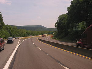 Interstate 80 in Pennsylvania - I-80 near the exit for PA 611 in Stroudsburg.