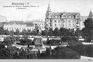 Paradeplatz (Königsberg) - View southeast toward the Königshalle