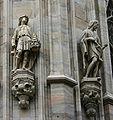 IMG 3738 - Duomo di Milano - Statue di Davide e Golia, e San Giovanni Battista - Foto di Giovanni Dall'Orto - 16-jan-2007.jpg