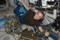 ISS-21 Robert Thirsk works in the Destiny lab.jpg