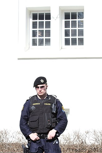 Icelandic Police - Armed police officer from Sérsveit Ríkislögreglustjórans (Viking Squad)