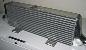 Intercooler - Exterior of the same intercooler core.