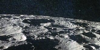 Icarus (crater) - Oblique view from Apollo 17