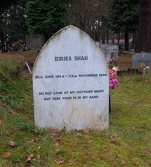 Idries Shah - The grave of Idries Shah in Brookwood Cemetery