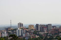Partial view of the city's skyline.
