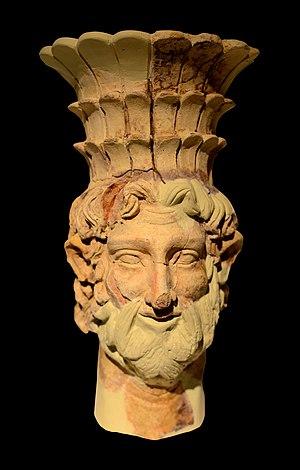 Baal Hammon - An incense burner depicting Ba'al-Hamon, 2nd century BC