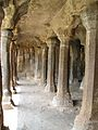India - Mamallapuram - 022 - Cave pillars (4333675697).jpg