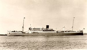 Nedlloyd - MS Indrapoera was completed in 1925 and was KRL's first diesel-powered passenger liner.