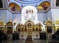 Innenraum der russisch-orthodoxen Christi-Himmelfahrt-Kirche am höchsten Punkt des Ölbergs - panoramio.jpg
