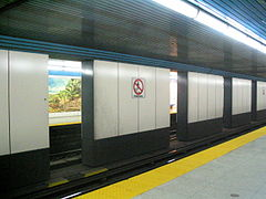 Inside North York Centre station (across platforms).JPG