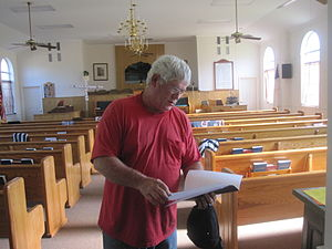 Clarence, Louisiana - Church custodian Coleman Doyle Alldredge (born 1950) also participates in the outreach of Clarence Baptist Church.