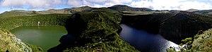 Azores Geopark - Image: Interior da ilha das Flores, Lagoa Funda e Lagoa Rasa, 4, ilha das flores, Açores, Arquivo de Villa Maria, ilha Terceira, Açores