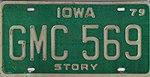 Iowa 1979 license plate - GMC 569.jpg