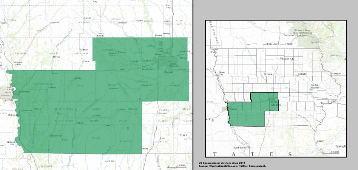 Iowas Rd Congressional District Wikipedia - Us map iowa