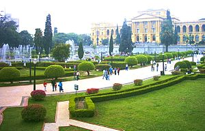 Os jardins do Ipiranga, em São Paulo, onde foi...