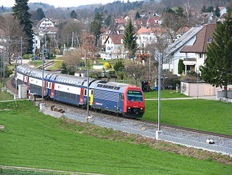 S3 (ZVV) - S3 service passing Irgenhausen towards Wetzikon.