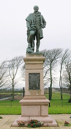 Irvine Burns Club - The Robert Burns statue on Irvine Moor.