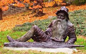 Time travel - Statue of Rip Van Winkle in Irvington, New York