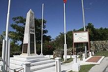 Il confine tra Saint Martin (Francia) e Sint Maarten (Paesi Bassi).