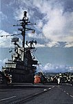 Island of USS Hornet (CVS-12) in 1960.jpg