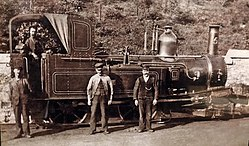 Isle of Man Railway No 5 Mona of 1874, as delivered new, at Douglas Station.jpg
