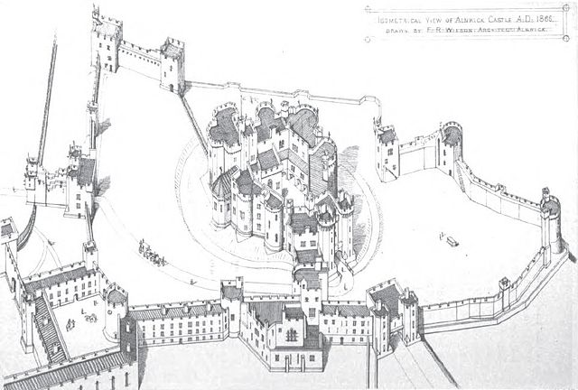 File Isometric View Of Alnwick Castle 1866 Jpg