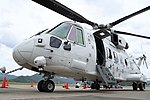 JMSDF MCH-101(8657) left front low-angle view at Maizuru Air Station May 18, 2019.jpg