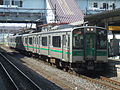 JR East 701 Series Rapid Sendai City Rabbit at Fukushima Station.jpg
