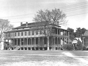 Lower Ninth Ward - Building at Jackson Barracks complex, c. 1935. This one was demolished by the WPA that decade.
