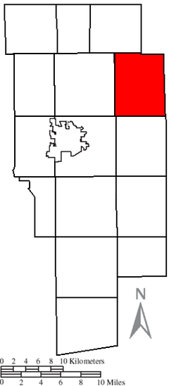 Location of Jackson Township in Ashland County