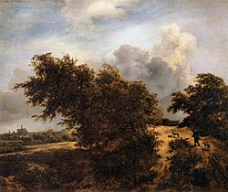 Jacob van Ruisdael: The Thicket near Haarlem