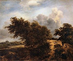Dune Landscape near Haarlem - Image: Jacob Isaacksz. van Ruisdael The Thicket (Path in the Haarlem Dunes) WGA20475