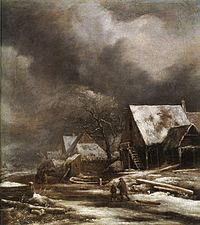 Jacob van Ruisdael - A Village in Winter.jpg