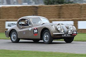 Leslie Johnson (racing driver) - The Montlhéry Jaguar XK120 FHC, seen in 2008