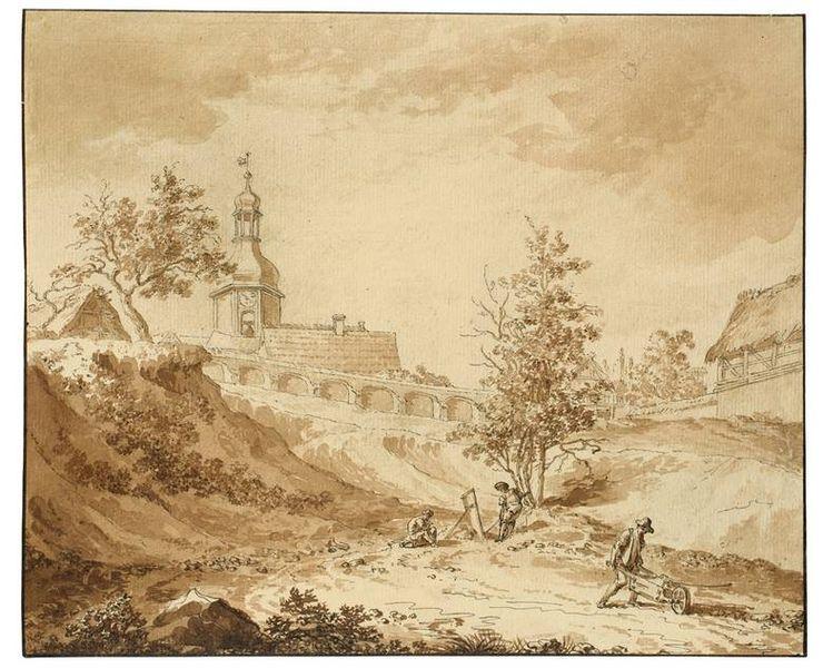 File:Jakob Wilhelm Mechau Parthie im Dorfe Lösnitz bei Leipzig c1780.jpg