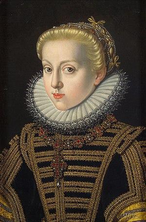 Archduchess Catherine Renata of Austria - Portrait of Archduchess Catherine Renata, by Jakob de Monte, ca. 1591.
