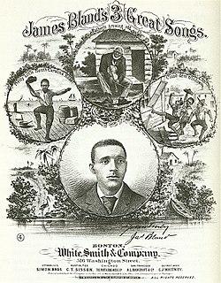 James A. Bland American musician