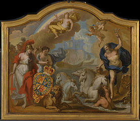 Allegory of the Power of Great Britain by Sea, design for a decorative panel for George I's ceremonial coach